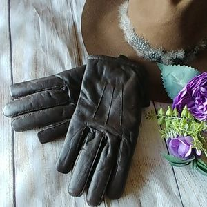 Genuine Leather Thinsulate Gloves